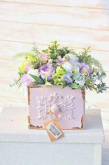Dekorácie - celoročný dekorovaný šuflík, väčší - 10482685_