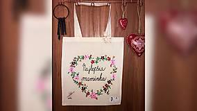 Nákupné tašky - ♥ Plátená, ručne maľovaná taška ♥ (MI5) - 10484915_