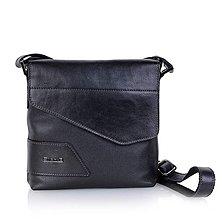 Na tablet - crossbody kožená kabelka, dlhý remeň, Päť vreciek, pravá koža, čierna, art. 409C - 10484597_