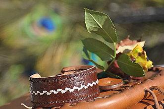 Iné doplnky - Štýlový kožený náramok - 10484286_