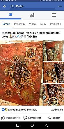 Obrazy - Steampunk obraz Vážka/3D - 10485661_