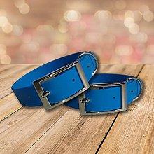 Pre zvieratká - Vodeodolný modrý obojok BLUE - 10484236_