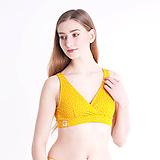 Bielizeň/Plavky - Športová podprsenka z bio bavlny GOTS - žlté bodky - 10484857_