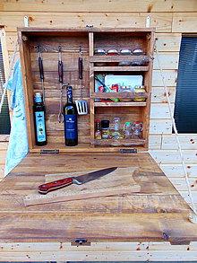 Nábytok - Bar, skrinka pre grilovacie potreby (Iná veľkosť či farba - poprosím správu) - 10484354_