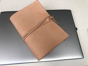 Papiernictvo - Kožený zápisník A5 - 10483375_
