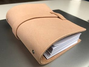 Papiernictvo - Kožený zápiník A5/A6 - 10483389_