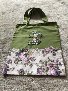 Nákupné tašky - plátenka zelená - 10483596_