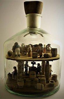 Dekorácie - Fľaša trpezlivosti - 10483815_