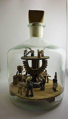 Dekorácie - Fľaša trpezlivosti - 10483946_
