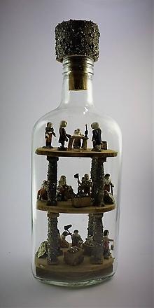 Dekorácie - Fľaša trpezlivosti - 10484077_