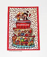 SVADOBNÁ TORTA ♥ nevesta a ženích kreslený obrázok 21 x 14,5 cm