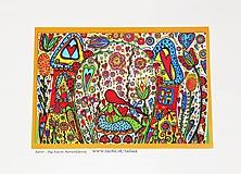 Obrazy - DIEVČATKO ♥ maľovaný obrázok 14,5 x 21 cm - 10482759_
