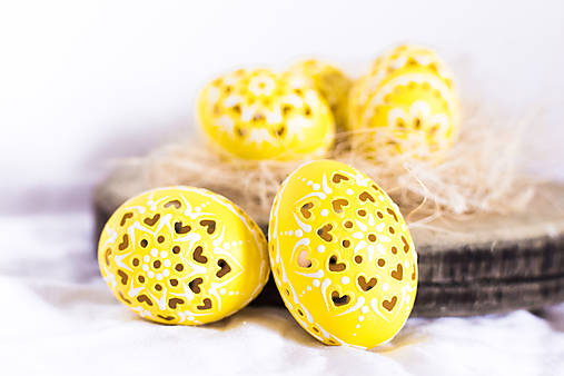 slepačie kraslice žlté