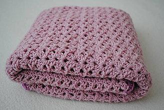 Textil - Detská deka z merino-cotton vlny - 10486228_