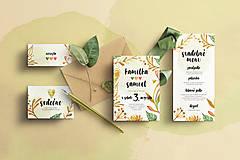 Svadobné oznámenie -Jesenné žlto-oranžové