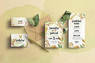 Papiernictvo - Svadobné oznámenie -Jesenné žlto-oranžové - 10484159_