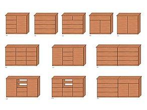 Nábytok - Komody z masívneho bukového dreva - 10486229_