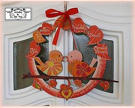 """Dekorácie - Celoročný veniec """"Orange&red"""" :) - 10485622_"""