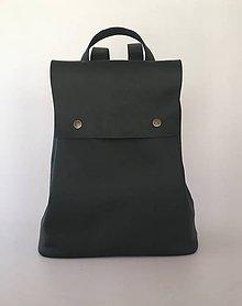 Batohy - zelený kožený batoh - 10484371_