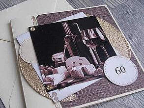 Papiernictvo - ...pohľadnica jubilejná s vínkom... - 10482775_