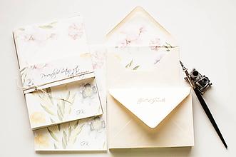 Papiernictvo - Dopisný set s osobným monogramom - 10485849_