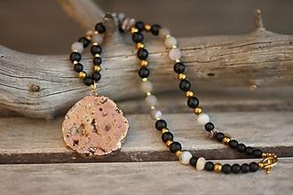 Náhrdelníky - Náhrdelník z minerálov a drúzou - 10483585_
