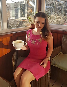 Šaty - Romantické šaty s výšivkou - 10484786_