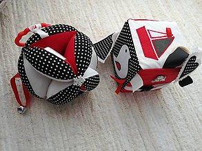 Hračky - Susugo sada - Montessori kocka a lopta. - 10482994_