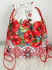 Batohy - Zero Waste Folk ruksak Divé maky- ekologické vrecúško. - 10485519_