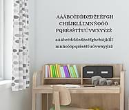 Dekorácie - Nálepky na stenu - ABECEDA - 10484048_