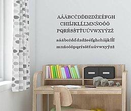 Dekorácie - Nálepky na stenu - ABECEDA (Oranžová) - 10484048_