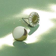 Náušnice - Slnko a mesiac. - 10484766_