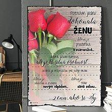Dekorácie - (122dt) Dokonalá žena..., ruže - 10487855_