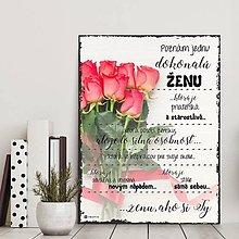 Dekorácie - (127dt) Žena ako si TY.., ruže svetlé - 10487873_
