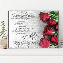 Dekorácie - (122dt) Dokonalá žena..., ruže - 10487884_