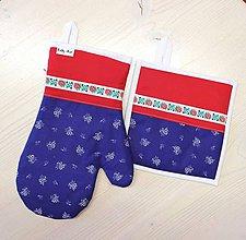 Úžitkový textil - set rukavica+chňapka Ľúbezný - 10490215_