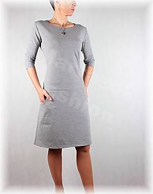 Šaty - Šaty volnočasové vz.386 (nové barvy) (Šedá) - 10486600_
