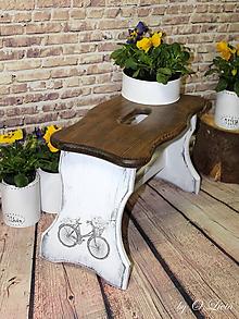 Nábytok - Šamlík oblúk - Romantický bicykel - 10486751_