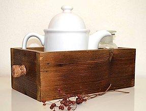 Nábytok - Drevená debnička-zo starého dreva - 10487209_