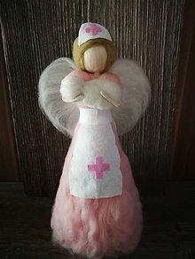 Dekorácie - Anjelik sestrička - 10486671_