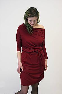 Šaty - VARIA Vínová - šaty - 10487678_