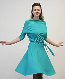 Šaty - VIKA Tyrkysová - šaty - 10487697_