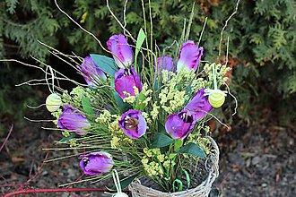 Dekorácie - Kytica z tulipánov - 10486952_