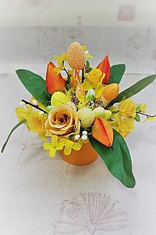 """Dekorácie - Veľkonočná dekorácia v keramike """"oranžová"""" - 10489567_"""