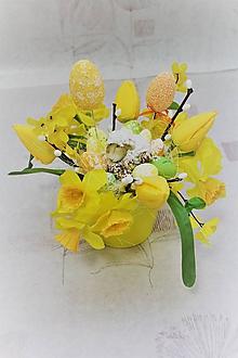 """Dekorácie - Veľkonočná dekorácia v keramike """"žltá"""" - 10489581_"""