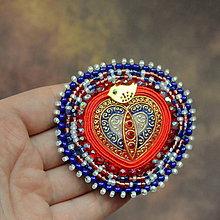 Odznaky/Brošne - Heart n.2 - vyšívaná brož - 10486664_