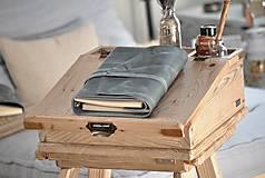 Papiernictvo - Kombinovaný kožený zápisník NATHAN - 10487905_