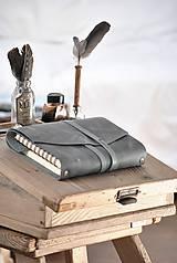 Papiernictvo - Kombinovaný kožený zápisník NATHAN - 10487909_