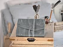 Papiernictvo - Kombinovaný kožený zápisník NATHAN - 10487919_