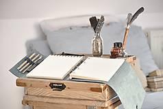 Papiernictvo - Kombinovaný kožený zápisník NATHAN - 10487925_